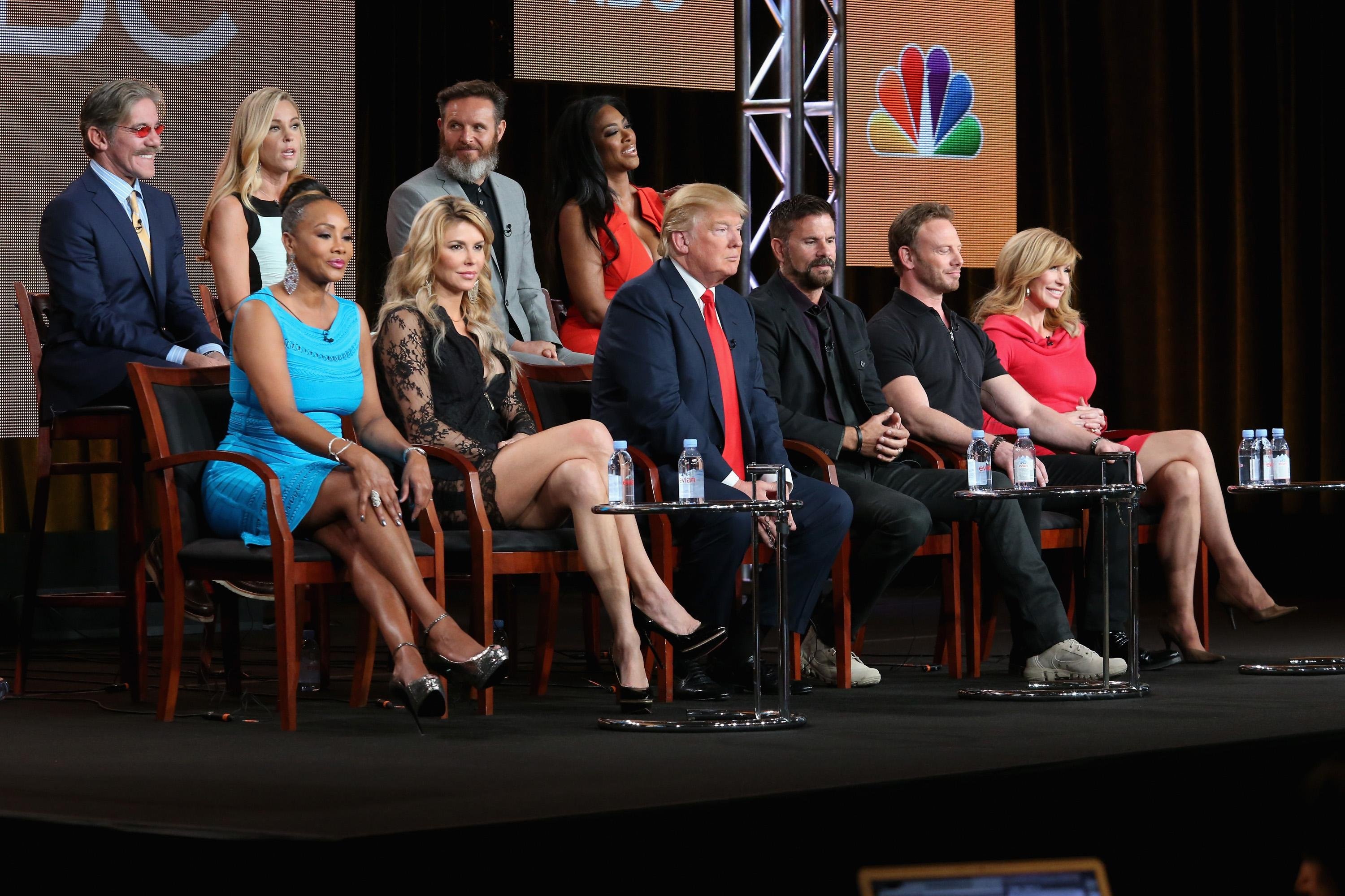 Geraldo Rivera and Donald Trump appeared on The Celebrity Apprentice in 2015. (Photo: Getty Images)