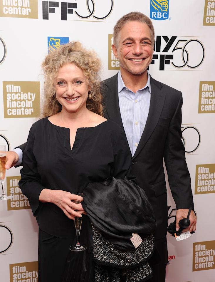 """NEW YORK, NY - SEPTEMBER 28:  Actors Carol Kane and Tony Danza attend the Opening Night Gala Presentation Of """"Life Of Pi"""" at the 50th New York Film Festival at Alice Tully Hall on September 28, 2012 in New York City.  (Photo by Jamie McCarthy/Getty Images)"""