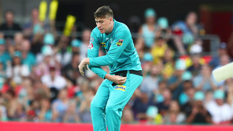 Matt Renshaw dancing after taking a wicket.