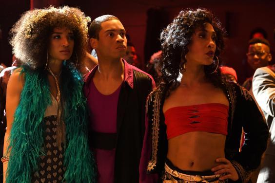Posers: Indya Moore, Ryan Jamaal Swain and MJ Rodriguez (BBC/FX/JoJoWhilden)