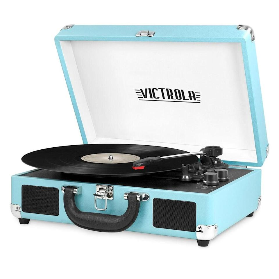 <p>The color of this cool <span>Victrola Bluetooth Portable Suitcase Record Player</span> ($45, originally $60) sold us.</p>