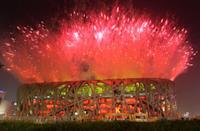 <p>China's National Stadium erupted in red fireworks as the host country celebrated the opening ceremony for the 2008 Summer Olympics. </p>