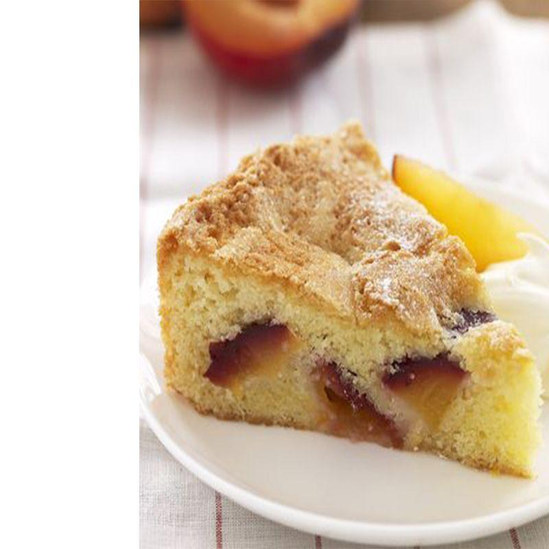 """<p>Dad doesn't like icing? Let him indulge in the fruity flavors of this frosting-free, moist peach and plum almond cake.</p><p><em><strong><a href=""""https://www.womansday.com/food-recipes/food-drinks/recipes/a21731/peach-plum-almond-cake-rbk/"""" rel=""""nofollow noopener"""" target=""""_blank"""" data-ylk=""""slk:Get the Peach-and-Plum Almond Cake recipe"""" class=""""link rapid-noclick-resp"""">Get the Peach-and-Plum Almond Cake recipe</a>.</strong></em></p>"""