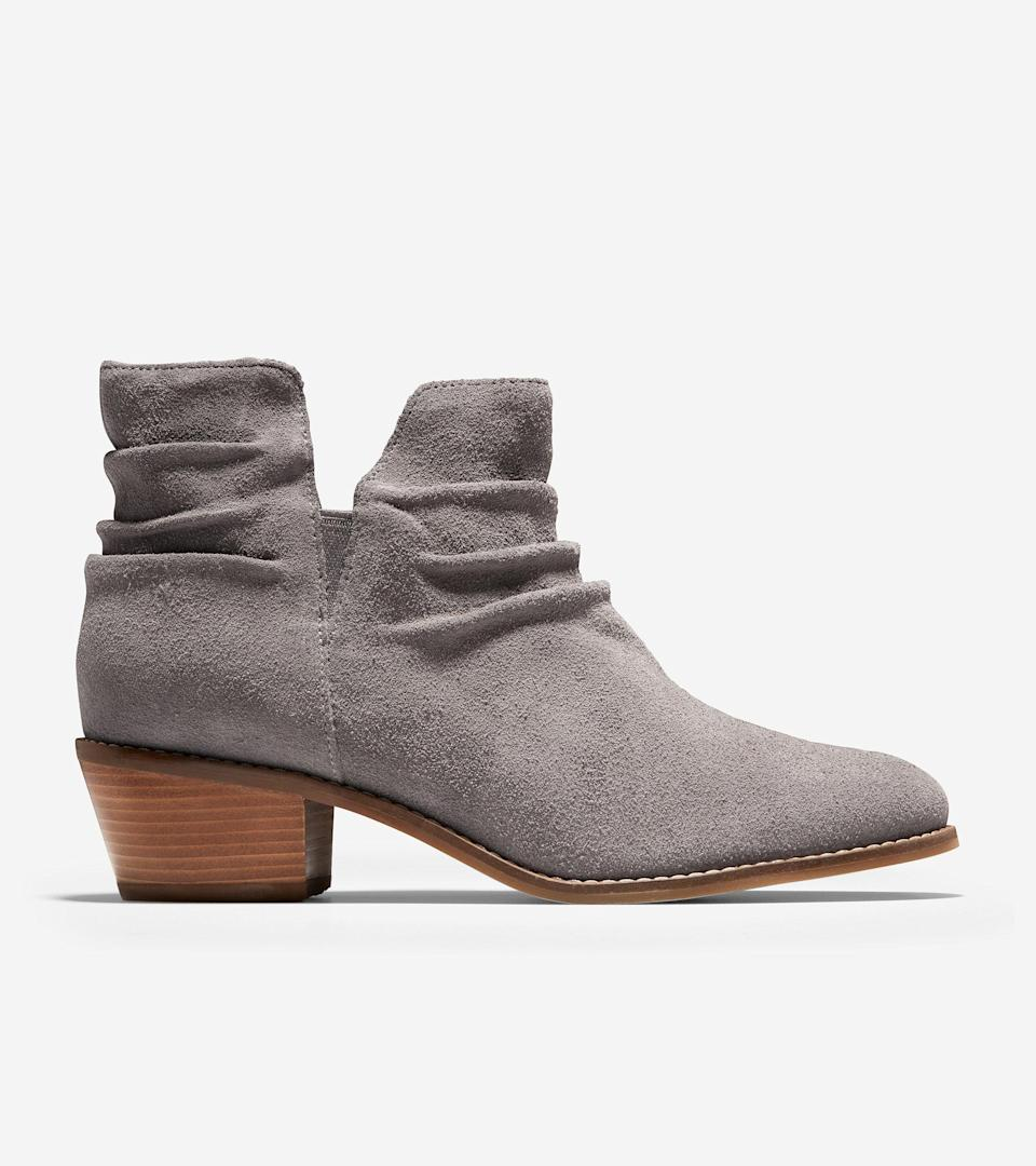 """<br><br><strong>Cole Haan</strong> Alayna Slouch Bootie, $, available at <a href=""""https://go.skimresources.com/?id=30283X879131&url=https%3A%2F%2Ffave.co%2F2UrT4hD"""" rel=""""nofollow noopener"""" target=""""_blank"""" data-ylk=""""slk:Cole Haan"""" class=""""link rapid-noclick-resp"""">Cole Haan</a>"""