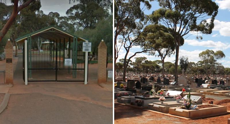 Kalgoorlie Cemetery in WA where newborn baby was buried after being found dead in a toilet cubicle.