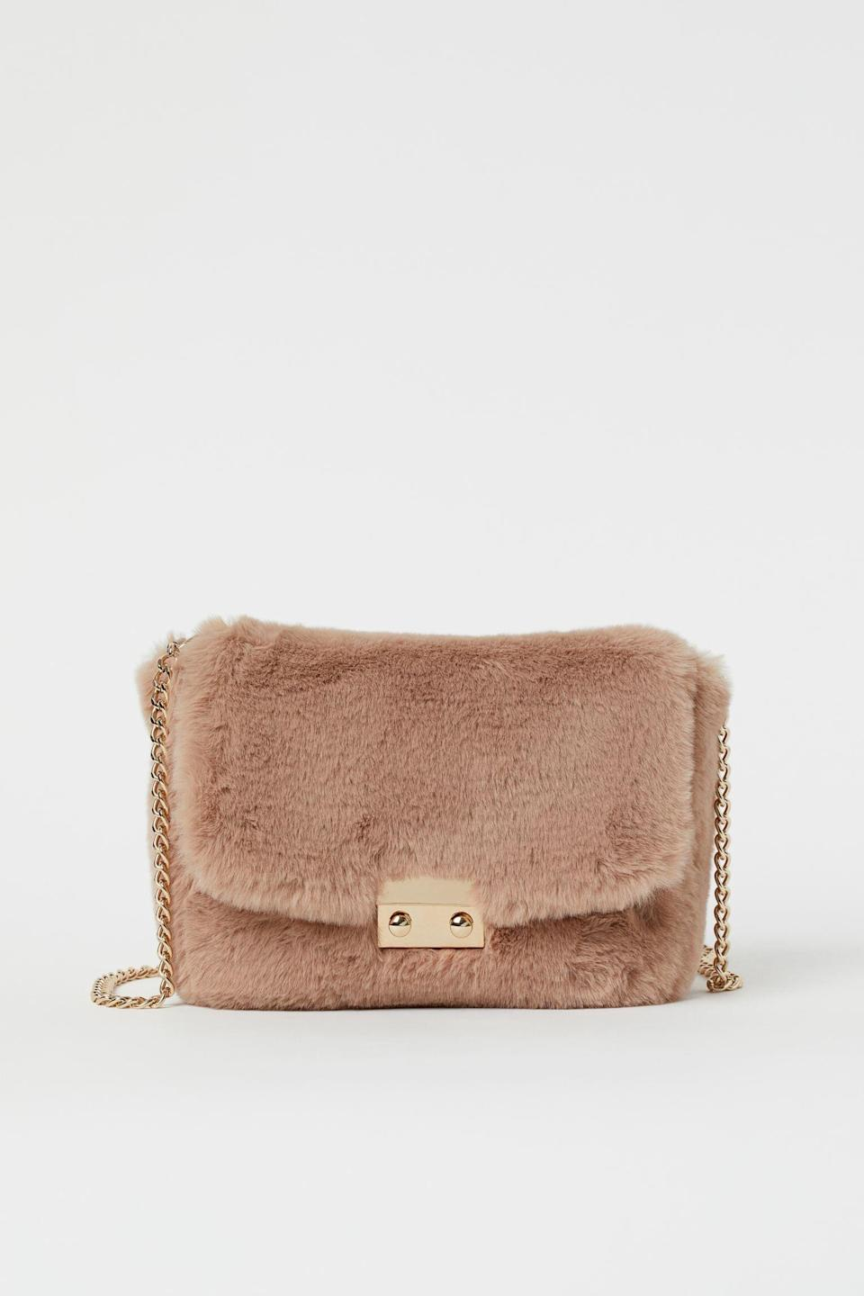 <p>This <span>Faux Fur Shoulder Bag</span> ($25) will elevate any ensemble for last-minute dinner plans.</p>
