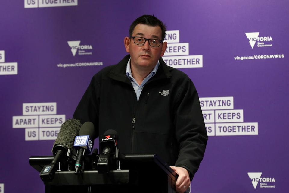 Victorian Premier Daniel Andrews say Victoria is working to drive the numbers down. Source: Getty