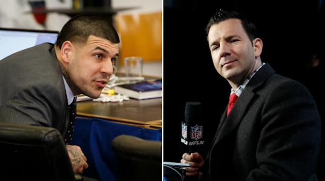 When Aaron Hernandez was being investigated for murder, NFL reporter Ian Rapoport saw an interaction he had with Hernandez years earlier in a whole new light.