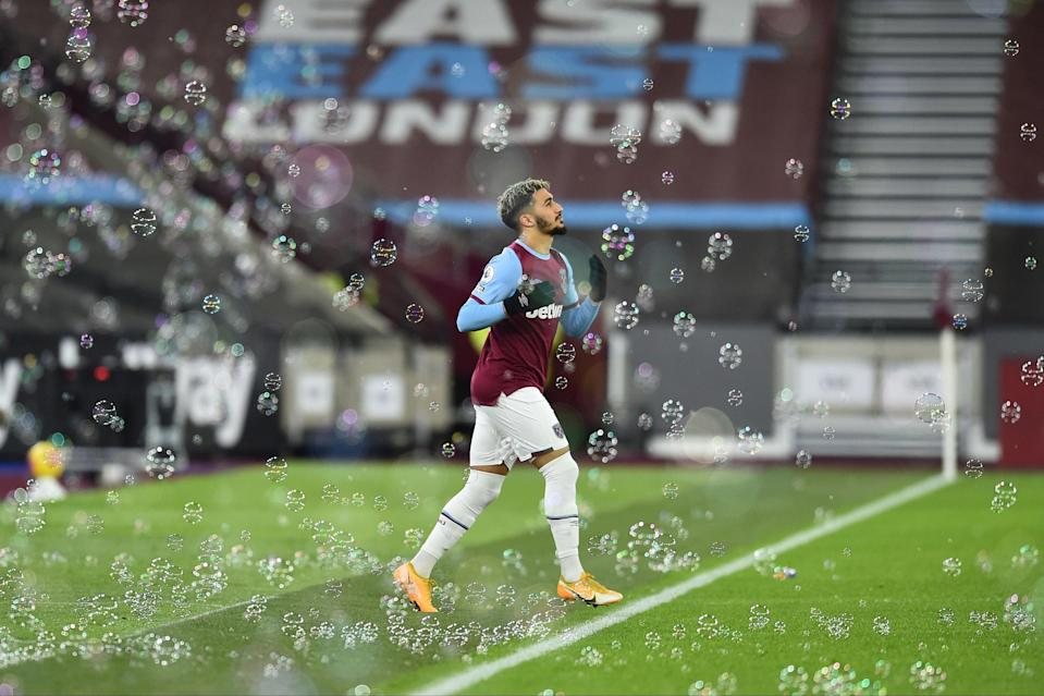 <p>Room for improvement: Said Benrahma is playing regularly for West Ham but has yet to score</p> (POOL/AFP via Getty Images)