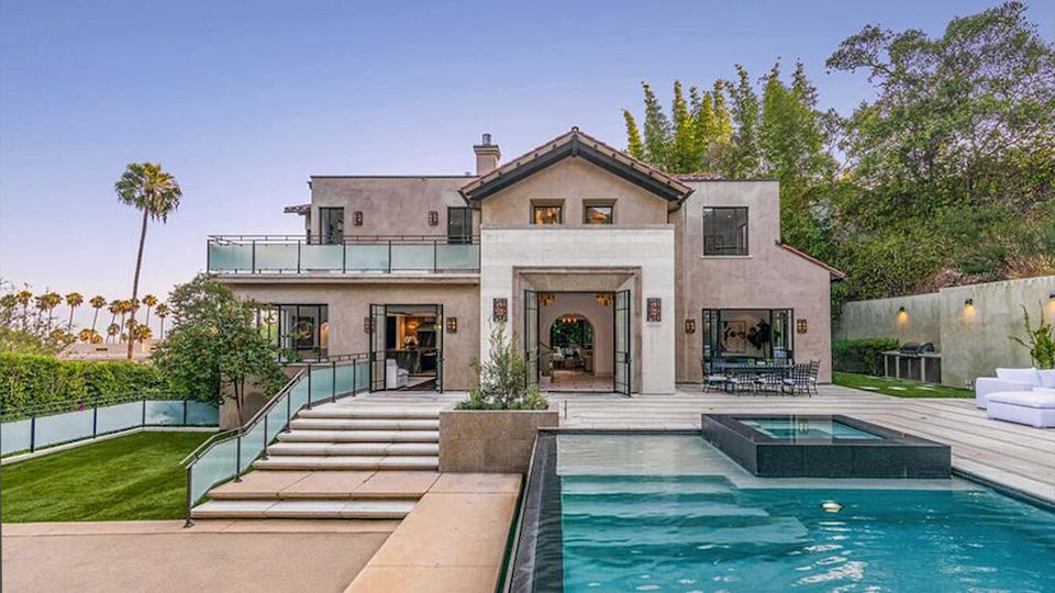The backyard with a pool. - Credit: Redfin