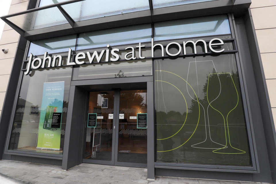 The John Lewis At Home store in Newbury, Berkshire, which is due to close as the John Lewis Partnership said it will shut two full-size department stores in Birmingham and Watford, four At Home shops in Croydon, Newbury, Swindon and Tamworth, as well as two travel hub outlets at Heathrow and St Pancras.