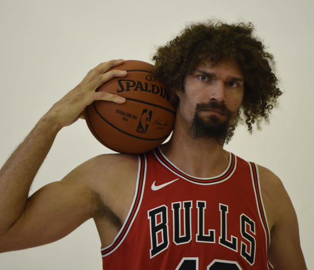 """<p>Cameraman: """"You look like an actual cartoon.""""<br>Robin Lopez: """"I can die now.""""<br>(AP) </p>"""