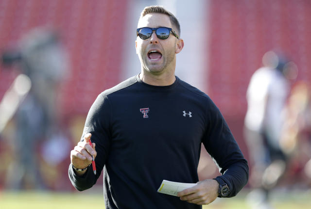 After getting fired as head coach at Texas Tech, Kliff Kingsbury landed at USC as the Trojans' offensive coordinator. (AP)