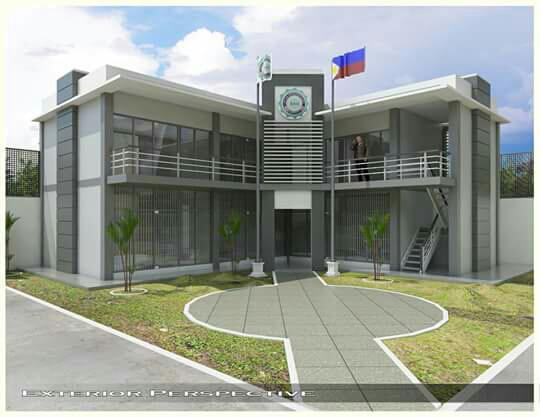 Exterior perspective of the two-story tertiary school building inside the Davao City Jail