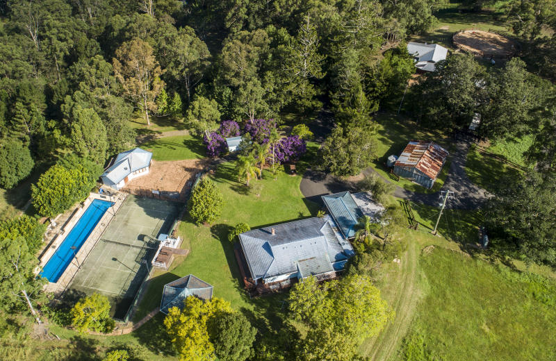 Russell Crowe's 320-hectare NSW property pictured in April 2019.
