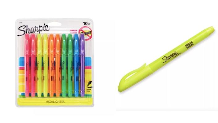 Bright colors for note-taking.