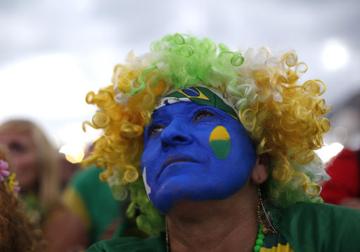 Dejected Argentine fans, elated Germans in Brazil