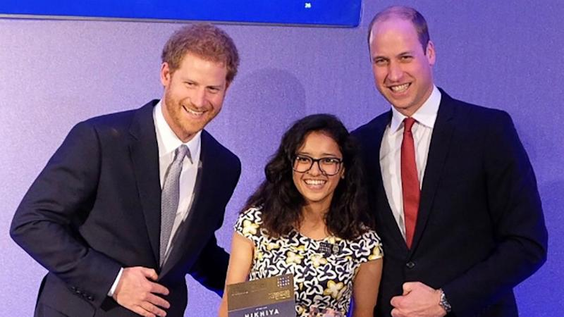 Princes William, Harry honor youth following in Princess Diana's footsteps
