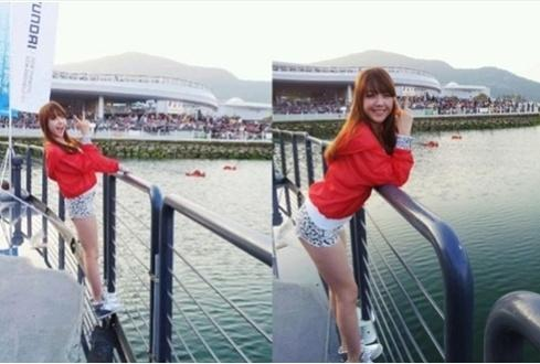 Girls' Day's Minah shows her gorgeous body shape