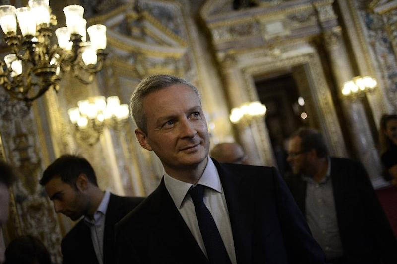 Candidate for the presidency of main opposition party UMP Bruno Le Maire is pictured on September 28, 2014 in Paris, after the French Senate elections (AFP Photo/Stephane de Sakutin )