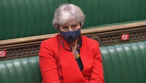 Former prime minister Theresa May in the House of Commons (PA)
