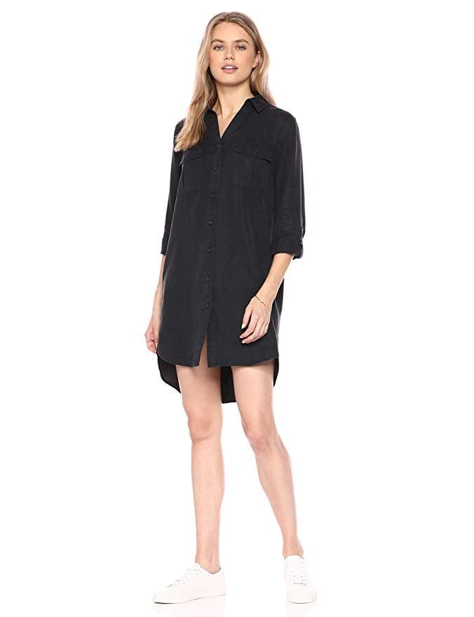 "<p>This timeless and versatile <a href=""https://www.popsugar.com/buy/Drop-Erica-Long-Sleeve-Shirt-Dress-482401?p_name=The%20Drop%20Erica%20Long-Sleeve%20Shirt%20Dress&retailer=amazon.com&pid=482401&price=50&evar1=fab%3Aus&evar9=44705274&evar98=https%3A%2F%2Fwww.popsugar.com%2Ffashion%2Fphoto-gallery%2F44705274%2Fimage%2F46614681%2FDrop-Erica-Long-Sleeve-Shirt-Dress&list1=shopping%2Ctravel%2Cfall%20fashion%2Cdresses%2Cfall%2Cspring%2Csummer%2Cday%20dresses%2Ctravel%20style%2Cspring%20fashion%2Csummer%20fashion%2Cspring%20dresses&prop13=mobile&pdata=1"" rel=""nofollow"" data-shoppable-link=""1"" target=""_blank"" class=""ga-track"" data-ga-category=""Related"" data-ga-label=""https://www.amazon.com/Drop-Womens-Erica-Sleeve-Shirt/dp/B07L67GW17?th=1"" data-ga-action=""In-Line Links"">The Drop Erica Long-Sleeve Shirt Dress</a> ($50) also comes in tan.</p>"