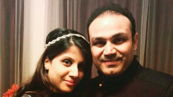 Sehwag Has an Adorable Message for Wife Aarti on Their Anniversary