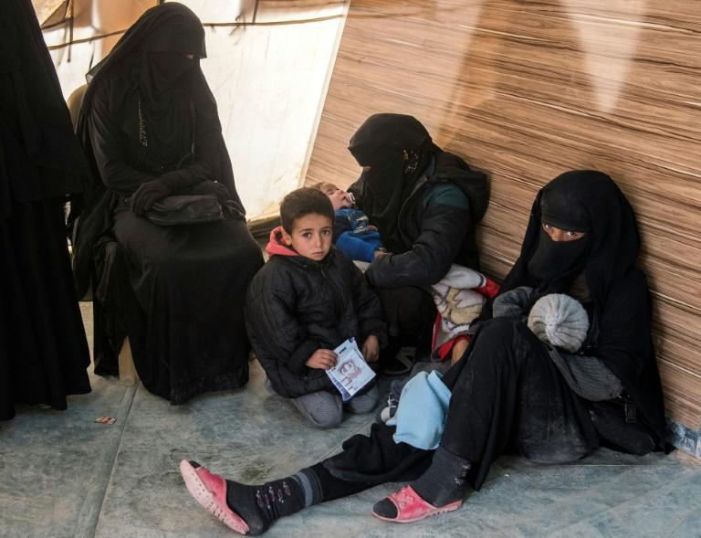 Many of the women waiting for checkups for their children at the makeshift clinics in Al-Hol have walked for days to escape the jihadists' last enclave, a desert odyssey that has cost the lives of at least 35 newborns and infants, according to the UN