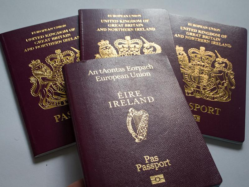The number of Britons applying for Irish passports has risen by 69 per cent so far in 2017 compared with the same period last year: Getty