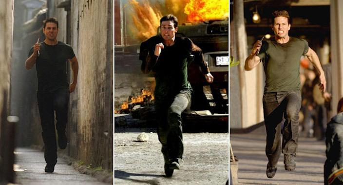 Tom Cruise running in <em>Mission: Impossible III</em>. (Paramount)