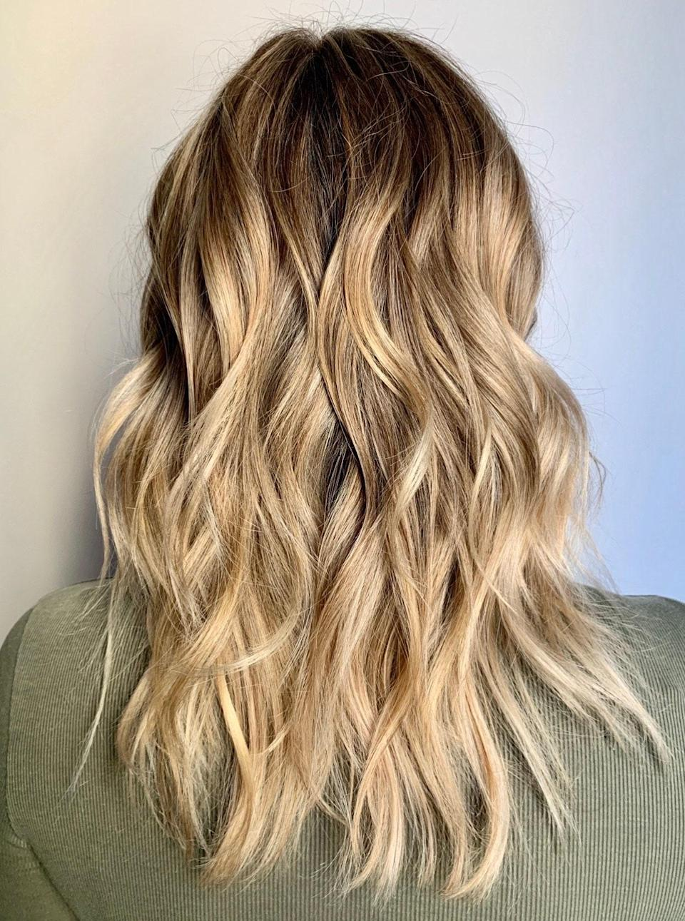 "Similar to bronde with a little more blend, Grummel recommends a light gold brunette shade for those who want to brighten up without a lot of commitment. ""A color like this you could get done twice a year,"" she says. ""Ask your stylist to focus the brightness on the ends, and keep warmth throughout."""