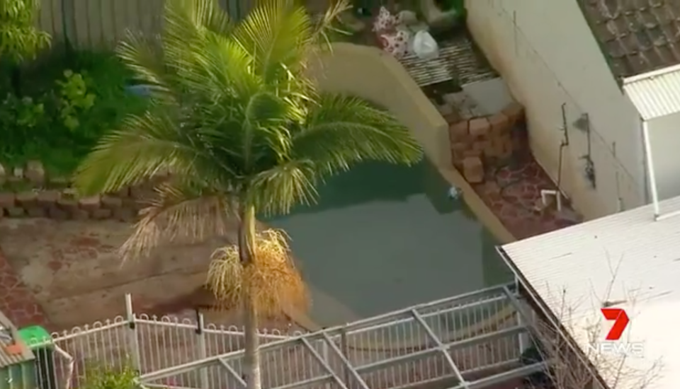 Two toddlers were pulled unresponsive from a backyard pool in Sydney's southwest. Source: 7News