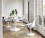"""<p><a class=""""link rapid-noclick-resp"""" href=""""https://go.redirectingat.com?id=74968X1596630&url=https%3A%2F%2Fwww.knoll.com%2Fshop&sref=https%3A%2F%2Fwww.townandcountrymag.com%2Fstyle%2Fhome-decor%2Fg37858770%2Fluxury-furniture-brands%2F"""" rel=""""nofollow noopener"""" target=""""_blank"""" data-ylk=""""slk:Shop"""">Shop</a></p><p>Knoll collaborates with renowned architects and designers throughout the world to create expertly crafted pieces for customers. This table from designer Eero Saarinen, which seats six, comes in different base and top options, including granite, wood, and marble. </p>"""