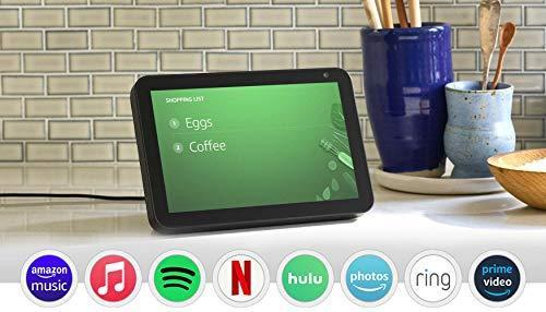 Echo Show 8 (1st Gen, 2019 release) -- HD smart display with Alexa – stay connected with vide…