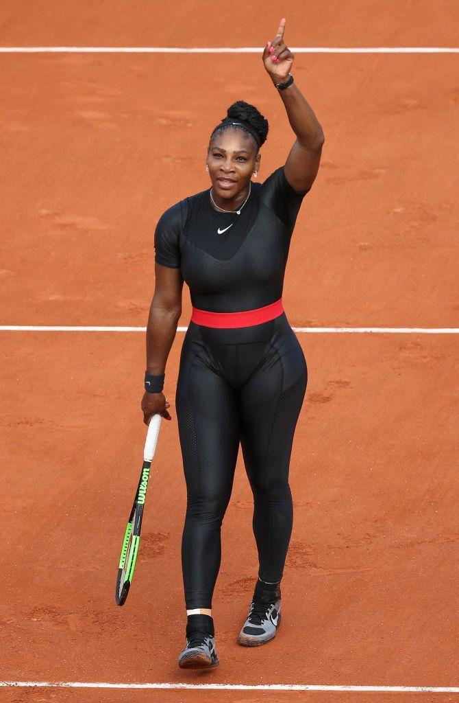 """<p>Serena Williams' catsuit made headlines when <a href=""""https://www.vox.com/2018/8/28/17791518/serena-williams-catsuit-ban-french-open-tennis-racist-sexist-country-club-sport"""" rel=""""nofollow noopener"""" target=""""_blank"""" data-ylk=""""slk:French Tennis Federation president Bernard Giudicelli"""" class=""""link rapid-noclick-resp"""">French Tennis Federation president Bernard Giudicelli</a> said that 'it went too far', and reportedly banned bodysuits moving forwards. This prompted a considerable backlash, and a comment from Williams, who wore the outfit for health reasons post birth and later <a href=""""https://twitter.com/serenawilliams/status/1001540241558261760"""" rel=""""nofollow noopener"""" target=""""_blank"""" data-ylk=""""slk:tweeted"""" class=""""link rapid-noclick-resp"""">tweeted</a>: 'For all the mums out there who had a tough recovery from pregnancy—here you go. [sic]'</p>"""