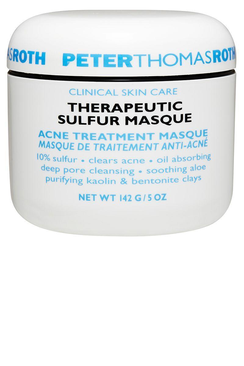 """<p>The mild antimicrobial properties of sulfur push back against the bacteria that causes acne, making it a good choice for people whose skin doesn't respond well to ingredients like benzoyl peroxide. <br></p><p><strong>Peter Thomas Roth </strong>Therapeutic Sulfur Masque, $47, sephora.com. </p><p><a class=""""link rapid-noclick-resp"""" href=""""https://go.redirectingat.com?id=74968X1596630&url=http%3A%2F%2Fwww.sephora.com%2Ftherapeutic-sulfur-masque-acne-treatment-masque-P3617&sref=https%3A%2F%2Fwww.harpersbazaar.com%2Fbeauty%2Fskin-care%2Fg11653081%2Fbest-acne-products%2F"""" rel=""""nofollow noopener"""" target=""""_blank"""" data-ylk=""""slk:SHOP"""">SHOP</a></p>"""