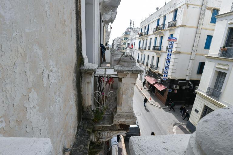 In the centre of Tunis, dilapidated colonial-era Art Deco and Art Nouveau buildings risk demolition as heritage preservation falls prey to a lack of planning and eager developers (AFP/Fethi Belaid)