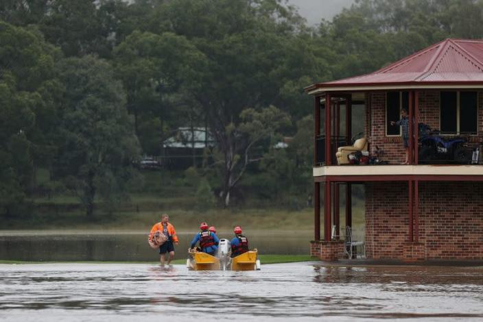 Widespread flooding in New South Wales