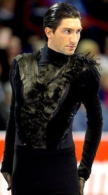 Evan Lysacek competes in the short program during the US Figure Skating Championships in January in Spokane, Washington
