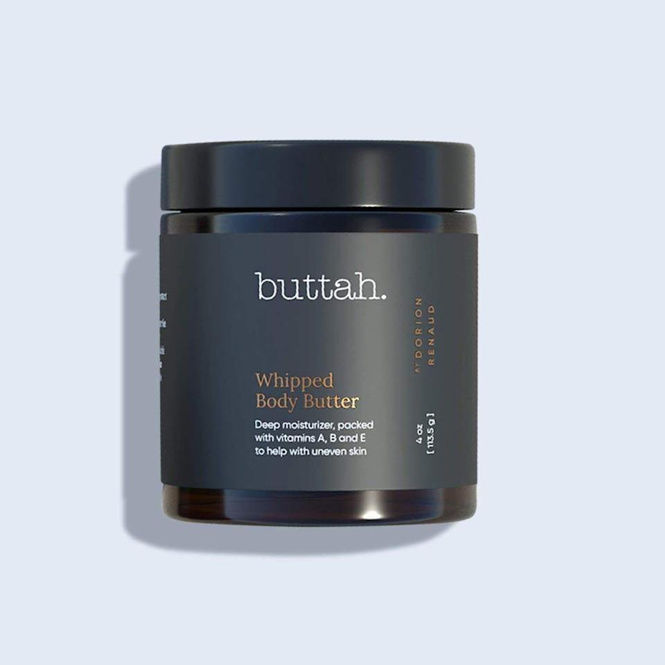 """<p><strong>buttah </strong></p><p>buttahskin.com</p><p><strong>$29.00</strong></p><p><a href=""""https://www.buttahskin.com/collections/the-buttah-skin-collection/products/whipped-body-butter"""" rel=""""nofollow noopener"""" target=""""_blank"""" data-ylk=""""slk:Shop Now"""" class=""""link rapid-noclick-resp"""">Shop Now</a></p>"""