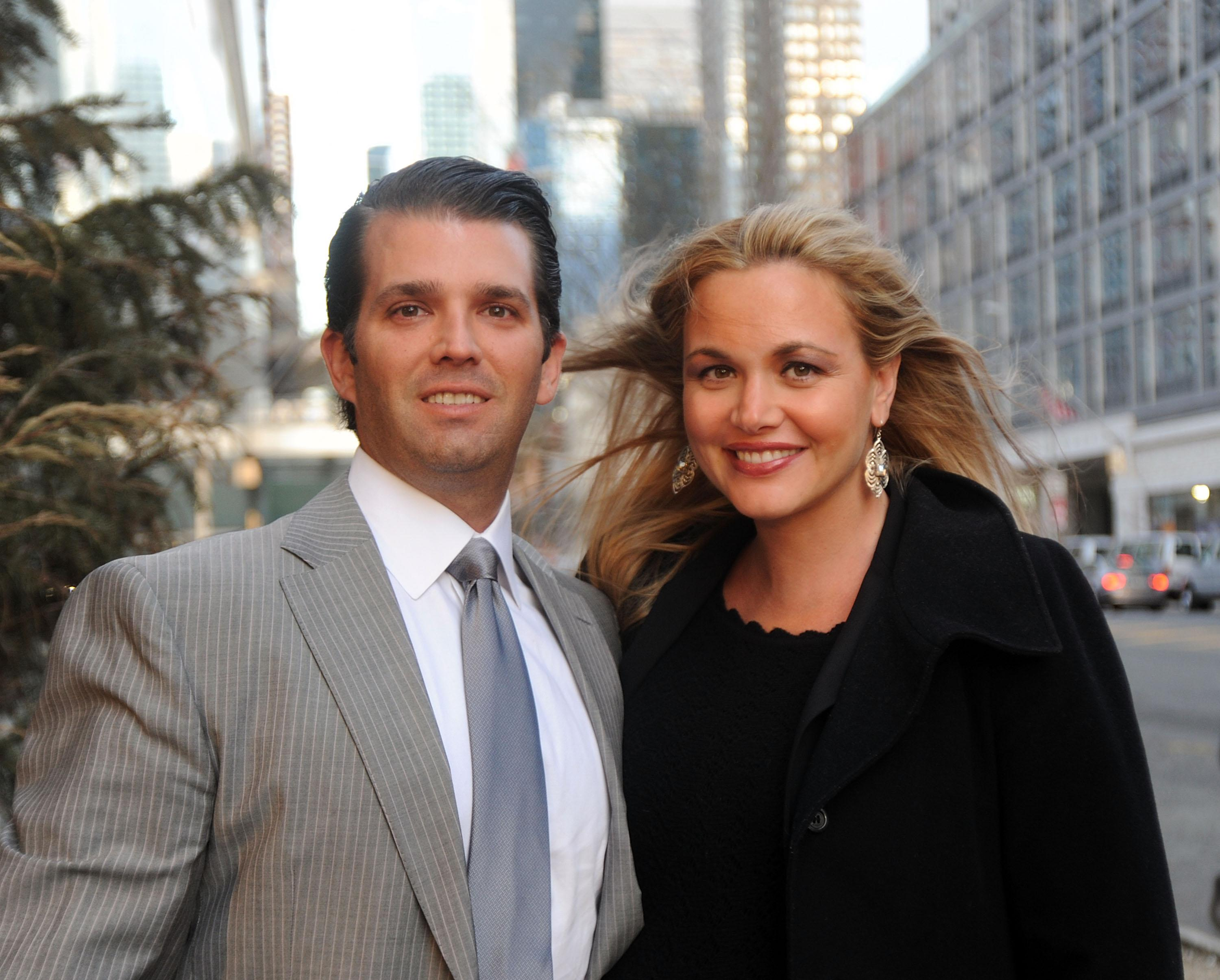 Donald Trump Jr. and Vanessa Trump, on the set of <em>Celebrity Apprentice</em> in 2014, are divorcing. (Photo: Bobby Bank/GC Images)