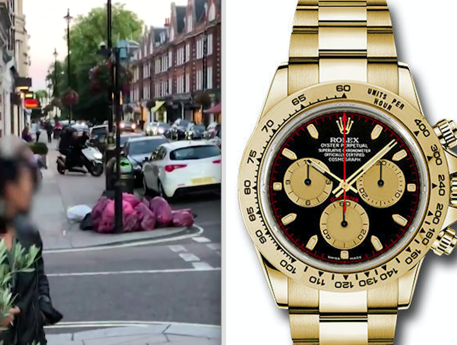 <em>A £25,000 Rolex Daytona watch was snatched in St John's Wood High Street by two armed moped robbers (PA)</em>