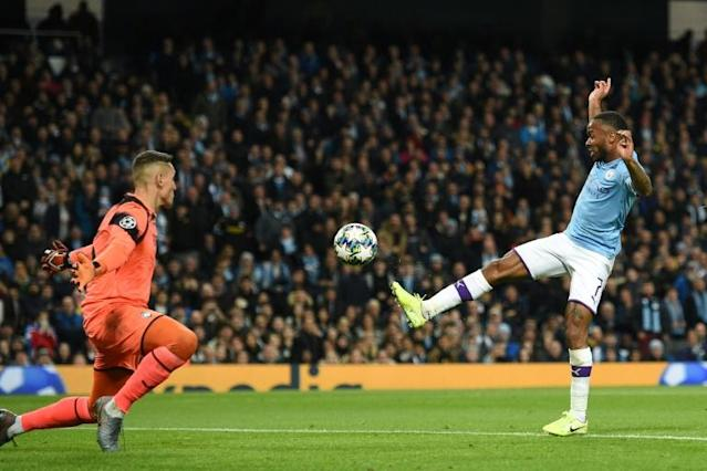 Manchester City's Raheem Sterling destroyed Atalanta with a hat-trick (AFP Photo/Oli SCARFF )