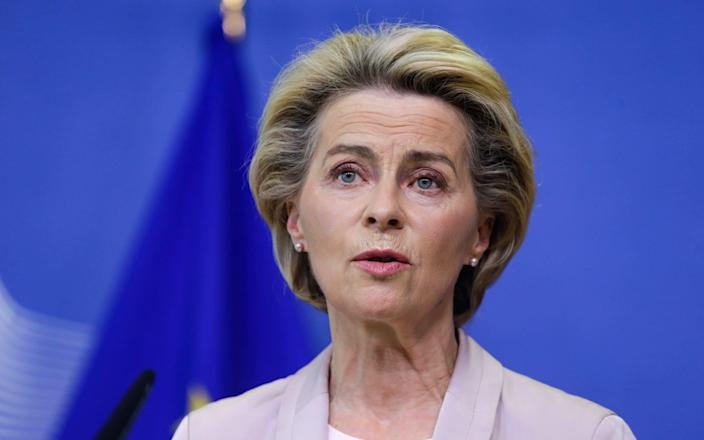 Ursula von der Leyen, the European Commission President, said she was 'very concerned' after the Government published the Internal Market Bill, which she warned 'breaks international law and undermines trust' - ARIS OIKONOMOU/POOL/EPA-EFE/Shutterstock/Shutterstock