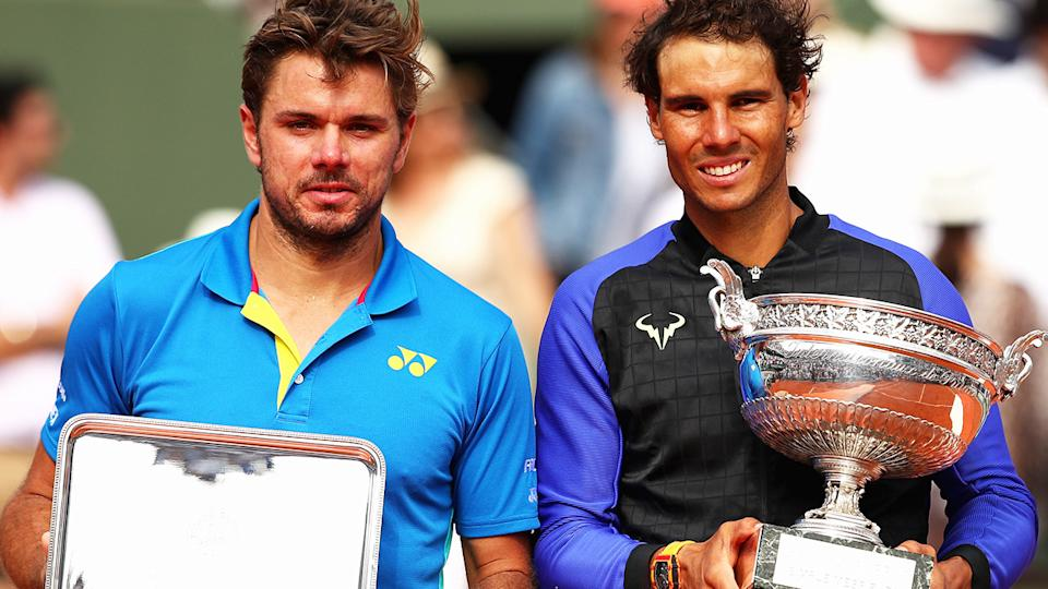 Stan Wawrinka and Rafael Nadal, pictured here after the French Open final in 2017.