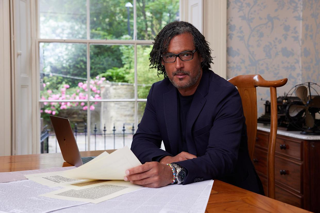 Programme Name: A House Through Time S4 - TX: n/a - Episode: A House Through Time S4 - Generics (No. Generics) - Picture Shows: in the dining room of Grosvenor Mount House David Olusoga - (C) Claire Wood - Photographer: Claire Wood