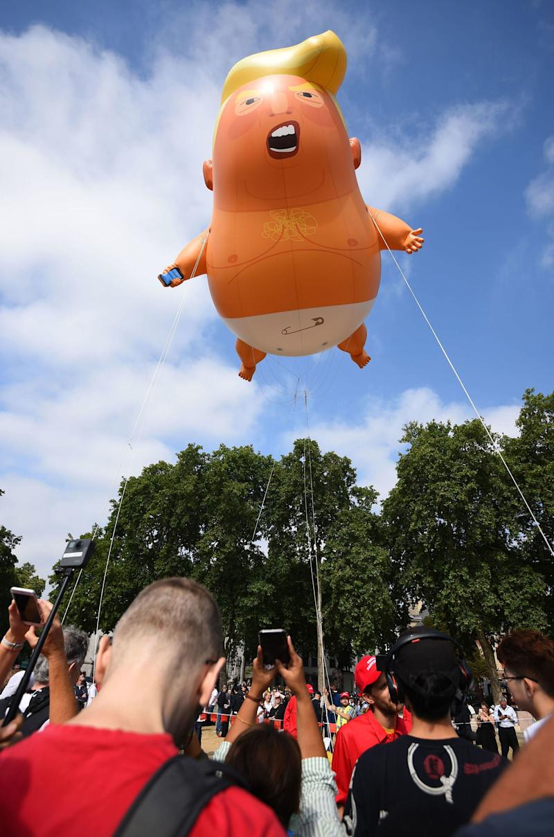 "Will the ""Trump Baby"" blimp make an appearance in protests this week? (Picture: PA)"