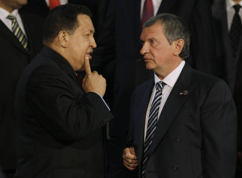 Chavez gets Russian oil investment _ and a puppy
