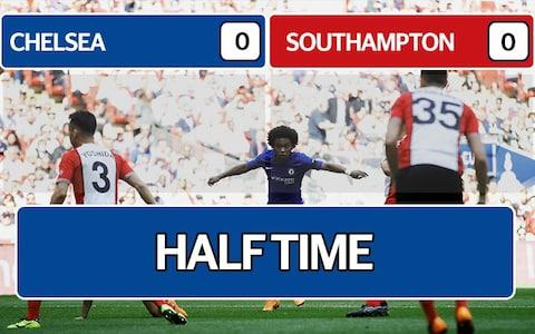 half time chelsea saints