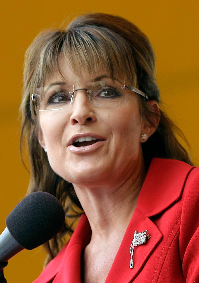 FILE - In this Sept. 5, 2011 file photo, former Republican vice presidential candidate and Alaska Gov. Sarah Palin speaks in Manchester, N.H.  Palin said in a statement Wednesday, Oct. 5, 2011, that she is not running for president for 2012. (AP Photo/Stephan Savoia, File)